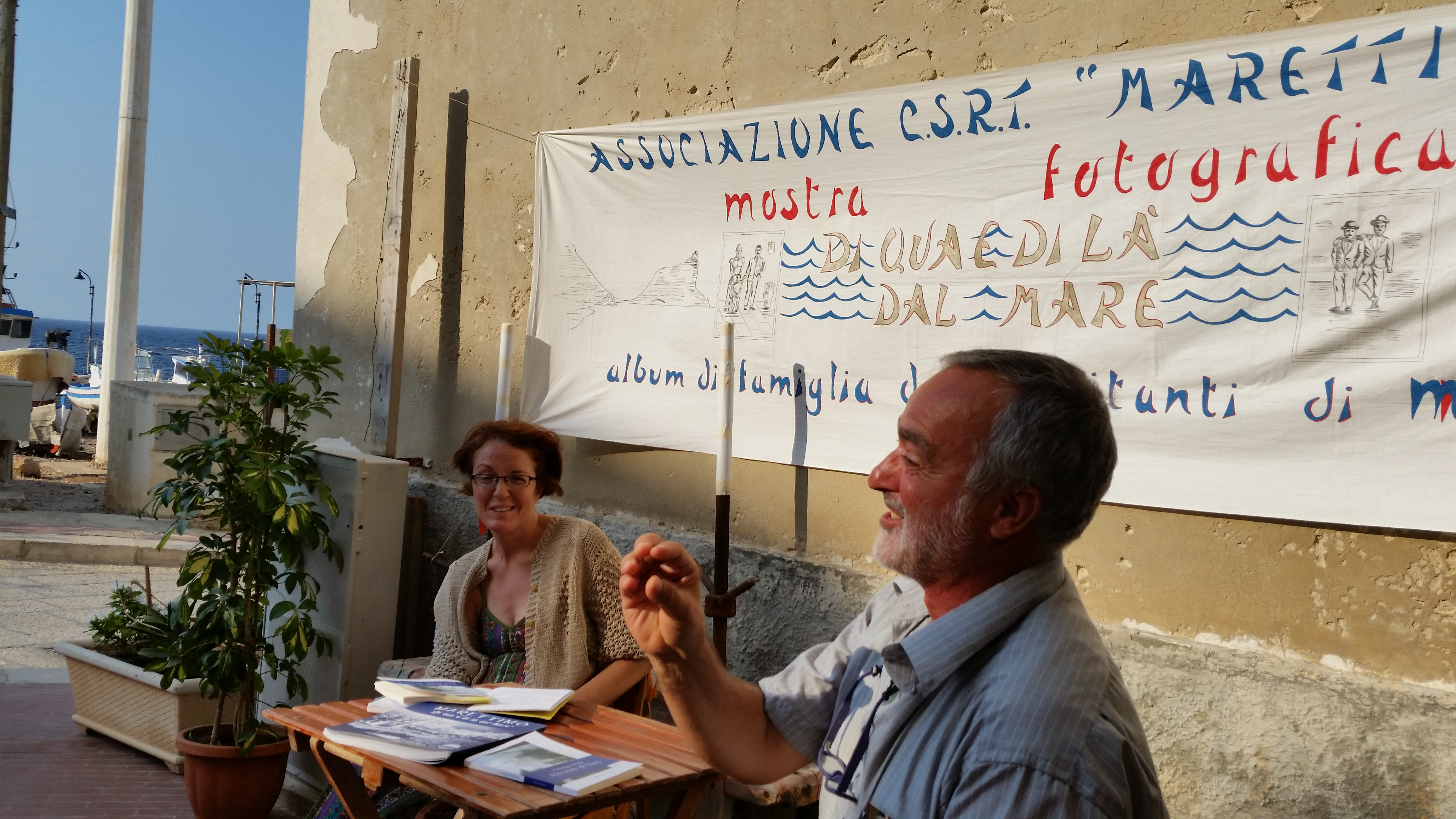 """A Marettimo  la rassegna  """"Libri e Letture Di qua e di la dal Mare"""" edizione 2015"""