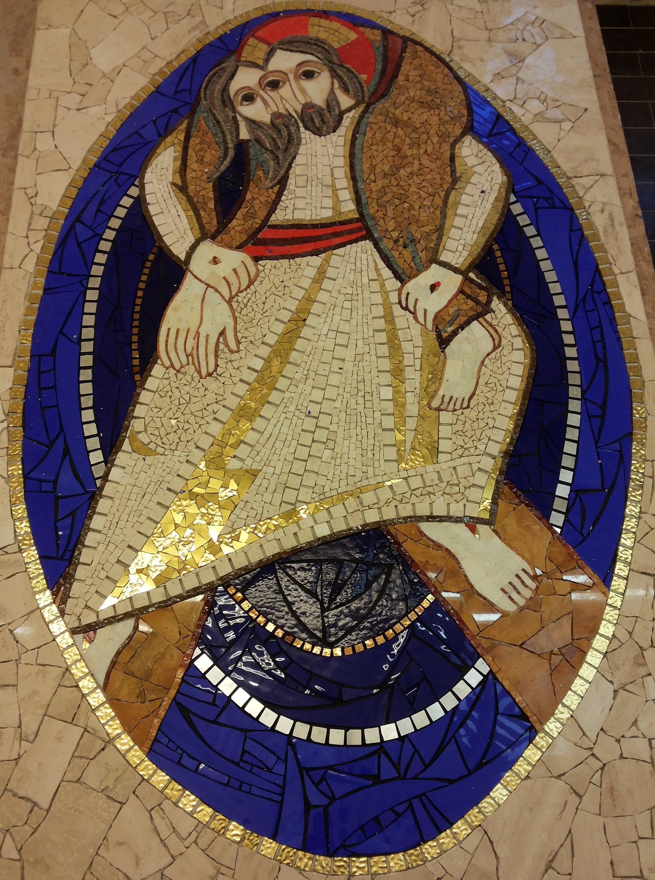 """A marettimo il mosaico originale del Logo del """"Giubileo della Misericordia"""""""